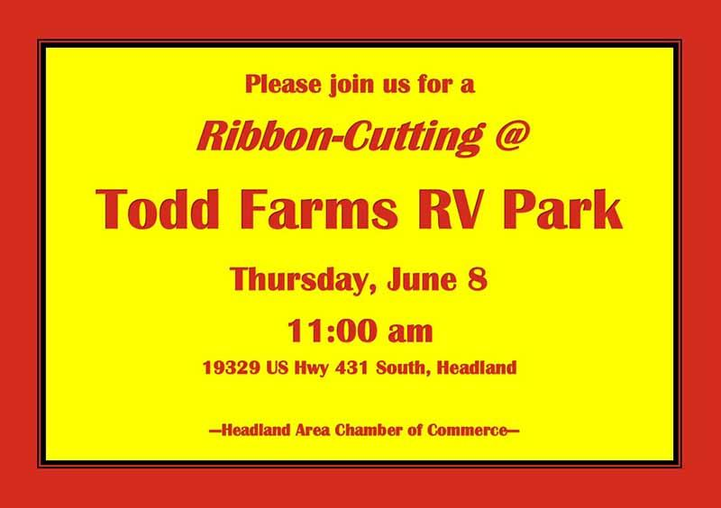 2017 06 08 ribbon cuttting todd farms rv park